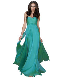17111 strapless ruched long gown in jungle green medium 6571479