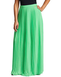 Mynt 1792 plus pleated maxi skirt medium 236296