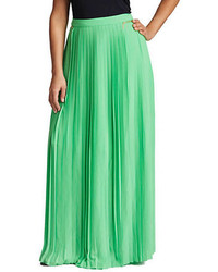 Mynt 1792 plus pleated maxi skirt medium 322070