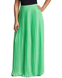 Mynt 1792 plus pleated maxi skirt medium 322070
