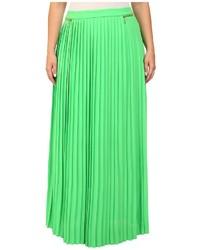 Plus size pleated maxi skirt medium 278339