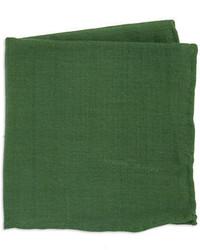 Black & Brown Black Brown Solid Silk And Wool Pocket Square