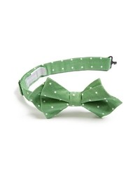 Nordstrom Cotton Silk Bow Tie Green One Size