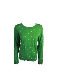 Charter Club Crew Neck Ls Polka Dot Sweater