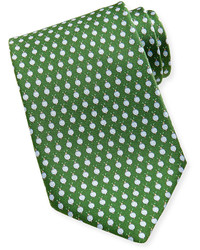 Snail silk tie green medium 115565