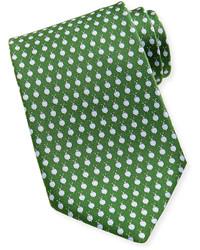 Snail silk tie green medium 115565