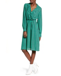 Vero Moda Sarah Dot Print Faux Wrap Dress