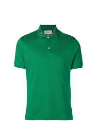 Gucci Collar Motifs Polo Shirt