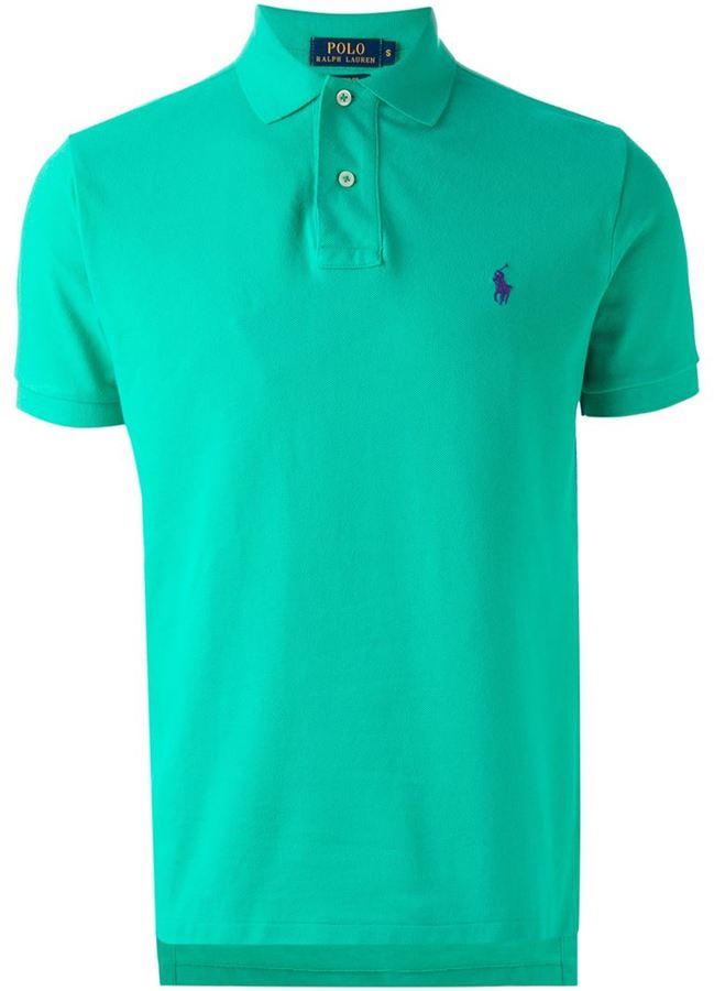 a8ca5bac Polo Ralph Lauren Embroidered Logo Polo Shirt, $89 | farfetch.com ...