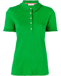 Tory Burch Ruffled Detail Polo Shirt