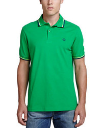 Fred Perry Twin Tipped Polo Shirt Kelly Green