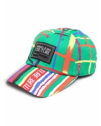 VERSACE JEANS COUTURE Check Print Baseball Cap