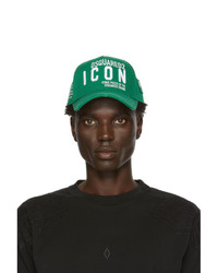 DSQUARED2 Green Gabardine Cap