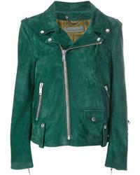 Golden Goose Deluxe Brand Printed Biker Jacket