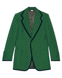 Gucci Gg Canvas Single Breasted Jacket