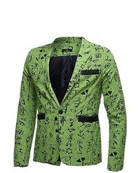 Green Print Blazer