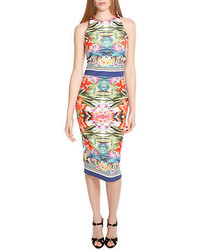 Alexia Admor Mirrored Tropical Print Sheath Dress