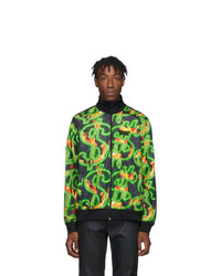 Sss World Corp Black Fire Dollar All Over Track Jacket