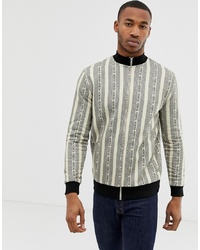 ASOS DESIGN Jersey Track Jacket With All Over Stripe Design