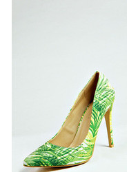 Boohoo Davina Printed Court Shoe