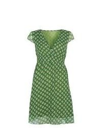 Green Print Casual Dress