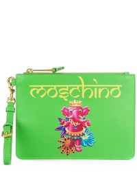 Moschino crowned elephant print clutch medium 1252580