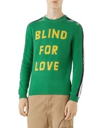 Gucci Blind For Love Snake Wool Crewneck Sweater