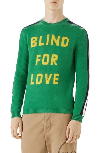 cf54152a98718c ... Gucci Blind For Love Snake Wool Crewneck Sweater