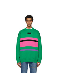 Ader Error Green And Pink Ventura Sweater
