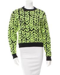 Printed crew neck sweater w tags medium 3665648