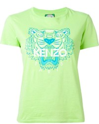 Green Print Crew-neck T-shirt