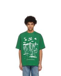 Acne Studios Green Beni Bischof Edition Nicis Bar T Shirt