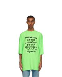 Balenciaga Green Languages T Shirt