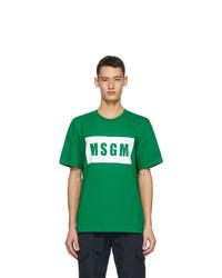 MSGM Green Logo Box T Shirt