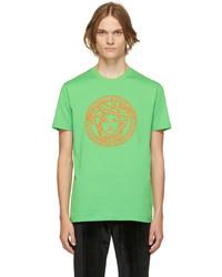 Versace Green Medusa Logo T Shirt