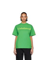 ARIES Green New Balance Edition Unbalanced T Shirt