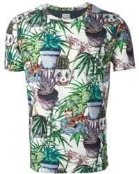 Paul Smith Plant Print T Shirt