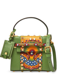 Valentino My Rockstud Micro Printed Leather Shoulder Bag Leaf Green