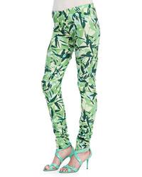 Elle Sasson Brooke Leaves Printed Leggings