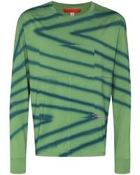 Eckhaus Latta Directional Spray Paint Striped Sweatshirt