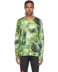 Off-White Green Active Mesh Long Sleeve T Shirt