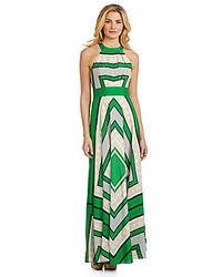 Scarf print halter maxi dress medium 226860
