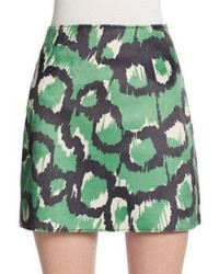 French Connection Abstract Print Miniskirt