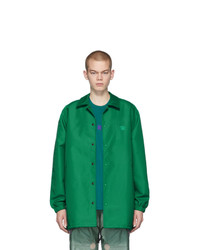 Acne Studios Green Oscoda Face Coach Jacket