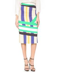 MSGM Print Pencil Skirt