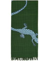 Loewe Green Paulas Ibiza Lizard Scarf