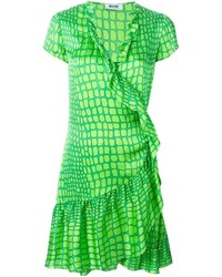 Moschino Cheap & Chic Scale Print Wrap Dress