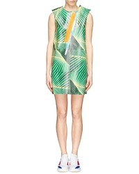 Fyodor Golan Palm Fontana Print Coated Cotton Shift Dress