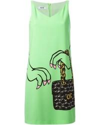 Moschino Cheap & Chic Handbag Print Shift Dress