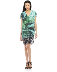 Joe Fresh Tropical Print Dress Green